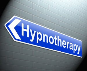 Illustration depicting a sign with a hypnotherapy concept.
